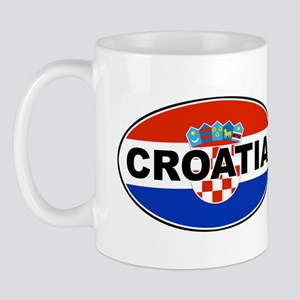 Croatian Oval Flag Mug