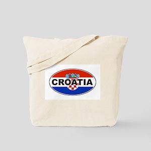 Croatian Oval Flag Tote Bag