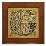 Celtic Letter G Framed Tile