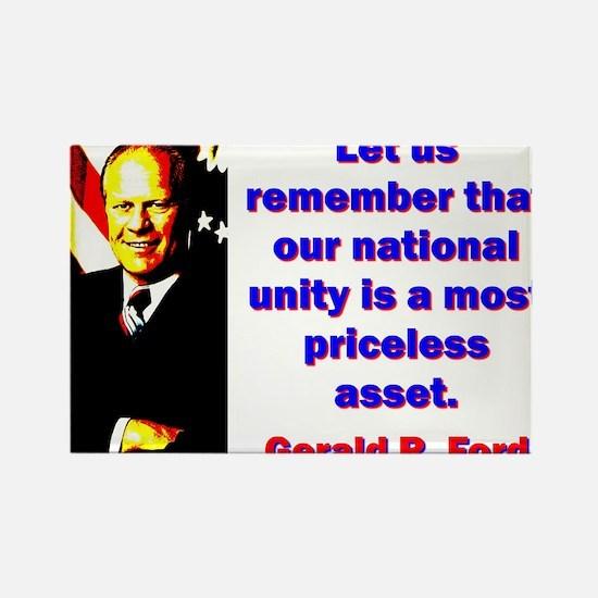 Let Us Remember - Gerald Ford Magnets