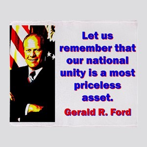 Let Us Remember - Gerald Ford Throw Blanket
