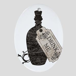 Drink Me Bottle Worn Ornament (Oval)