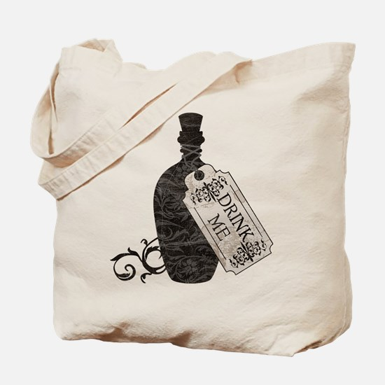 Drink Me Bottle Worn Tote Bag