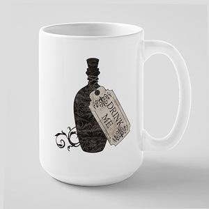 Drink Me Bottle Worn Large Mug