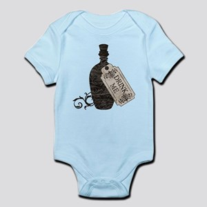 Drink Me Bottle Worn Infant Bodysuit