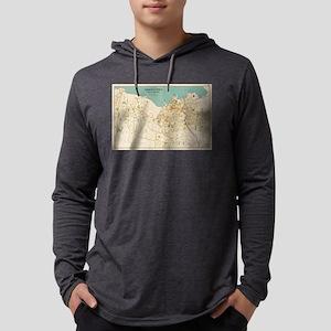 Vintage Map of Tarrytown New Yor Mens Hooded Shirt