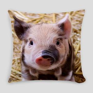 sweet little piglet 2 Everyday Pillow