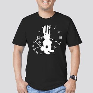 Rabbit Late Men's Fitted T-Shirt (dark)