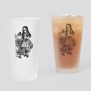 Vintage Alice Drink Me Drinking Glass