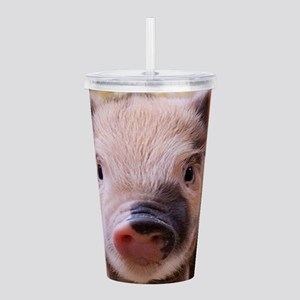 sweet little piglet 2 Acrylic Double-wall Tumbler