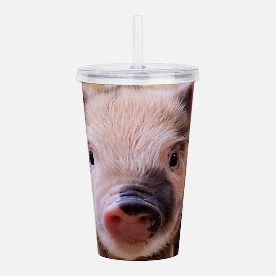 sweet little piglet 2 Acrylic Double-wall Tumbler
