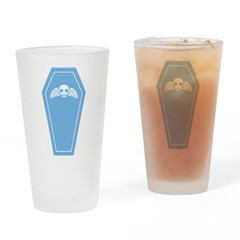 Cute Blue Coffin Drinking Glass