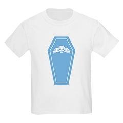 Cute Blue Coffin Kids Light T-Shirt
