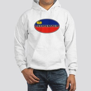 Liechtenstein Flag Hooded Sweatshirt
