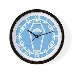 Cute Blue Coffin Wall Clock