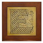 Celtic Letter E Framed Tile