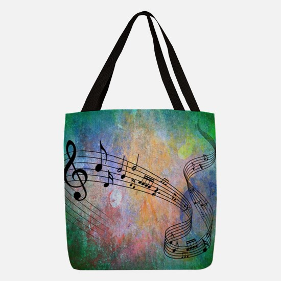 Abstract Music Polyester Tote Bag