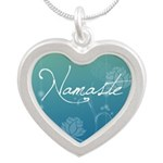 Namaste Silver Heart Necklace