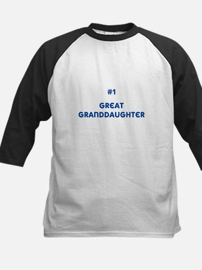 #1 Great Granddaughter Kids Baseball Jersey