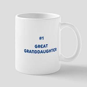 #1 Great Granddaughter Mug