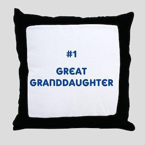 #1 Great Granddaughter Throw Pillow