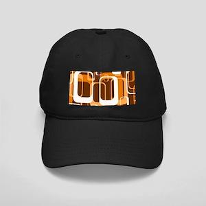 retro pattern 1971 orange Black Cap with Patch