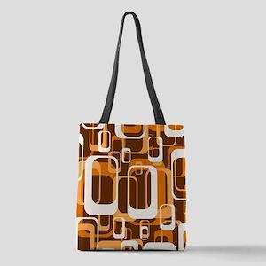 retro pattern 1971 orange Polyester Tote Bag