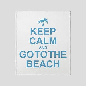Keep Calm Go To The Beach Throw Blanket