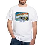 "Subsim ""Torpedo In The Water! White T-Shirt"