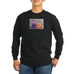 Man on Radio Long Sleeve Dark T-Shirt