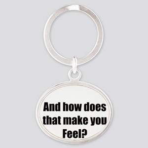 therapy Oval Keychain
