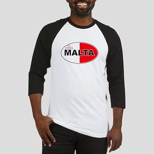 Maltese Oval Flag Baseball Jersey