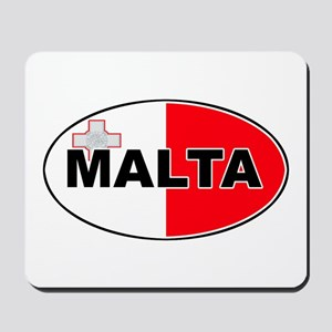 Maltese Oval Flag Mousepad