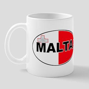 Maltese Oval Flag Mug