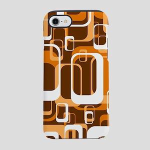 retro pattern 1971 orange iPhone 7 Tough Case