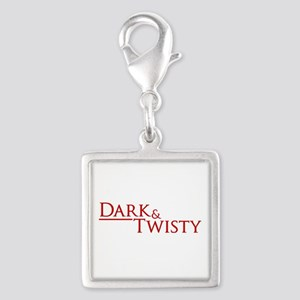 Dark & Twisty Silver Square Charm