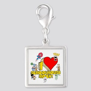 I Heart Schoolhouse Rock! Silver Square Charm