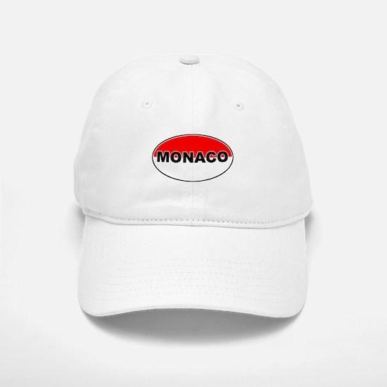 Monaco Oval Flag Baseball Baseball Cap