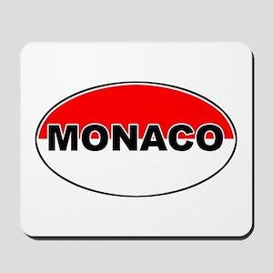 Monaco Oval Flag Mousepad