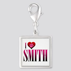 I Heart Smith Silver Square Charm