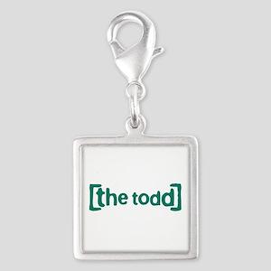 The Todd Silver Square Charm