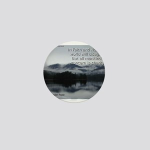 In Faith And Hope - Alexander Pope Mini Button