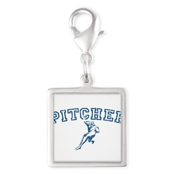 Pitcher - Blue Silver Square Charm