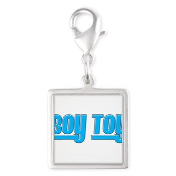 Boy Toy - Blue Silver Square Charm