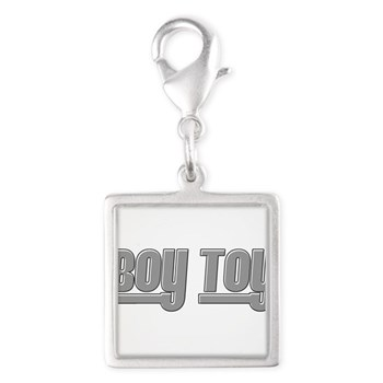 Boy Toy - Gray Silver Square Charm