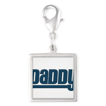 Daddy - Blue Silver Square Charm
