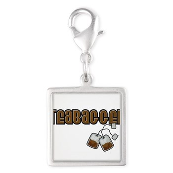 Teabagger Silver Square Charm