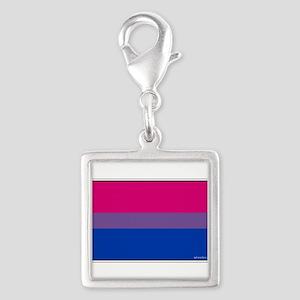 Bi-Sexual Pride Flag Silver Square Charm