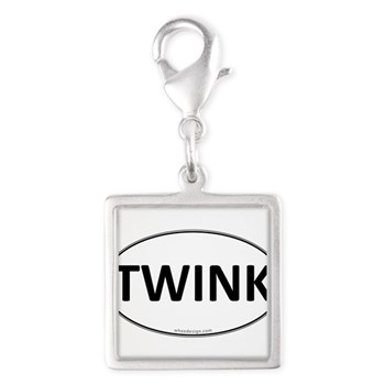 TWINK Euro Oval Silver Square Charm