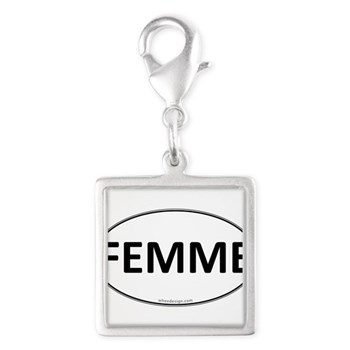 FEMME Euro Oval Silver Square Charm